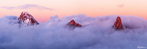 sunset panorama mountain france mountains alps chamonix montblanc coucherdesoleil aiguilledumidi seaofclouds dentdugeant merdenuages grandejorasse stephanna aiguillerochefort mostsuccessfulphoto