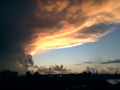 sky cloud japan hokkaido iphone ebetsu