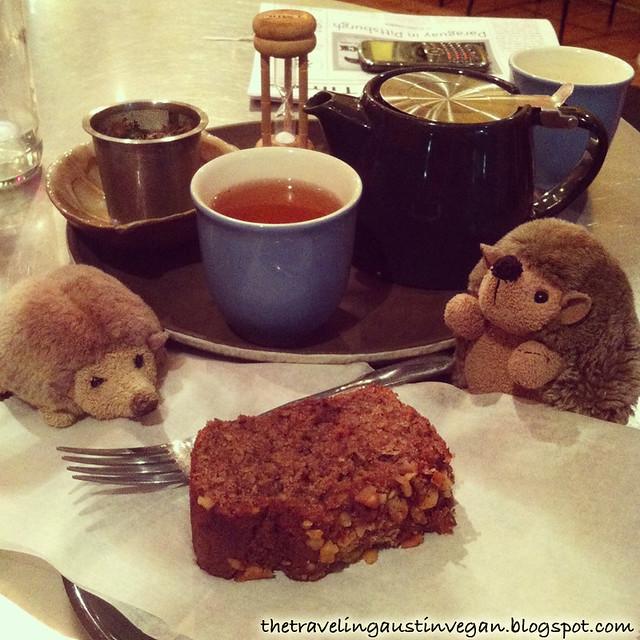 Vegan Banana Walnut Bread and Tea from Té Café - Pittsburgh, PA