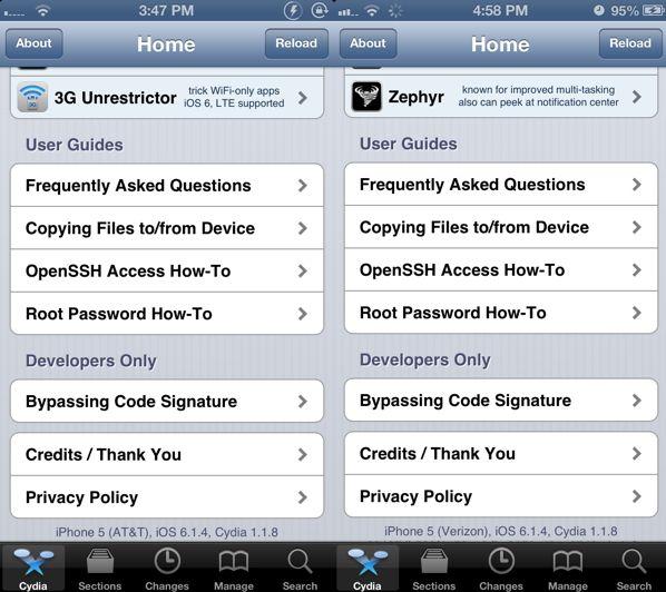 Джейлбрейк iOS 6.1.4