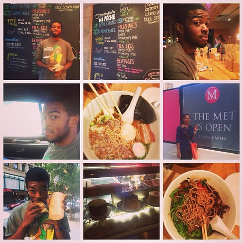 When we finally got free time we did what @williebeatfat wanted to do! The foodies we are wanted to take pictures in front of all of our fab chef's restaurants but he really wanted to go to #momofuku. He LOVES #davidchang! #foodie #nyc #milkbar