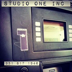 Look at what i found... www.StudioOne-inc.com  @ the  Gas Pump ,, tagging ! #studiooneinc #donjosenetwork #recording  #studiologo