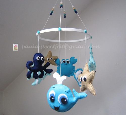 ♥♥♥ Móbile do Mar Azul ... by sweetfelt \ ideias em feltro