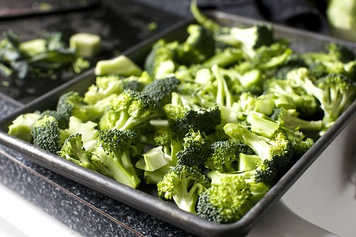 so much broccoli, ready to roast