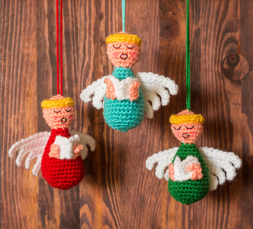 Choir of Angels Christmas Ornaments Crochet Pattern