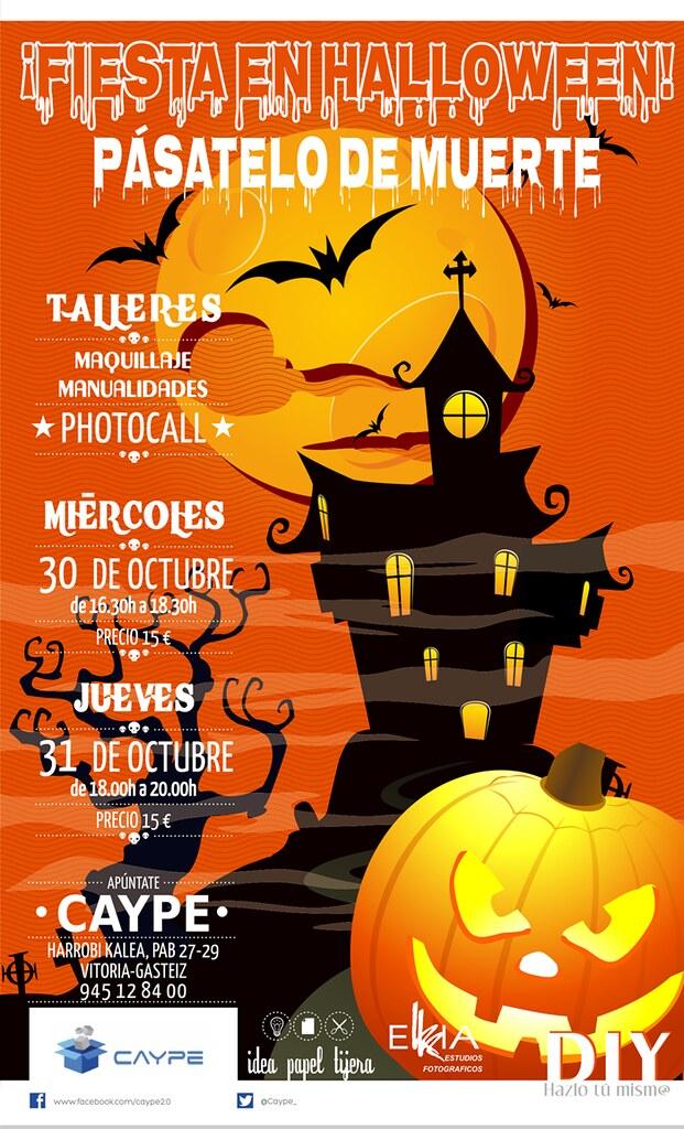 fotógrafo Vitoria, photocall, manualidades, taller, Halloween, maquillaje