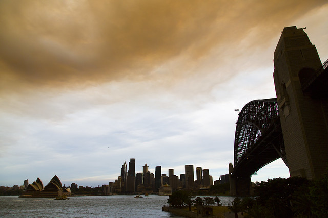 Smokey skies over Sydney