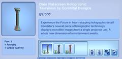 Dixie Flatscreen Holographic Television by Corebital Designs