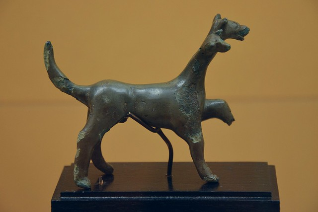 Kerberos with two heads, bronze, from Etruria, 400-300 BC, National Museum of Denmark, Copenhagen
