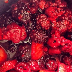berries starting to soften