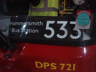 Route 533 - Hammersmith Bus Station