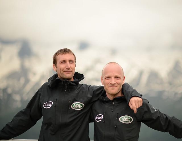 Ο Ben Saunders (αριστερά) και ο Tarka L'Herpiniere θα προσπαθήσουν να αναβιώσουν την Terra Nova Expedition...