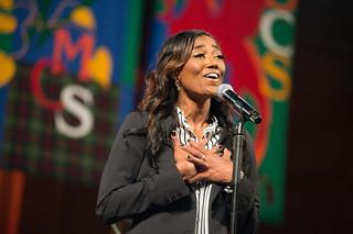 Patina Miller Performing
