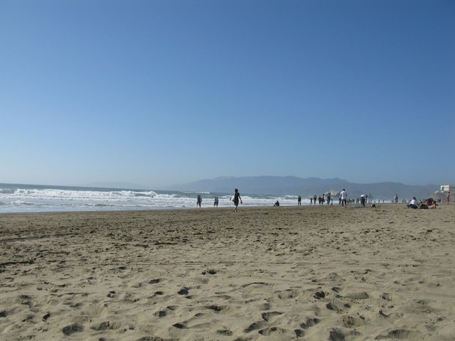 Plaża przy Golden Gate Park