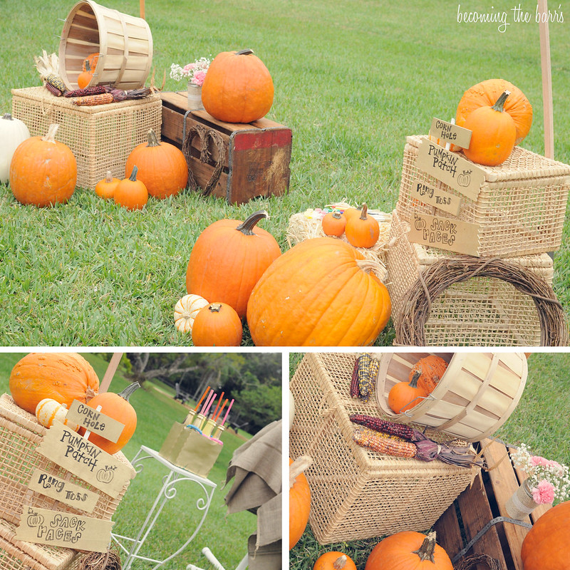 diy pumpkin patch party; paint a pumpkin party
