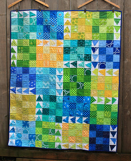finished urban chicken quilt