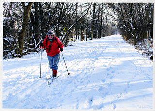 Suburban Cross Country Skier
