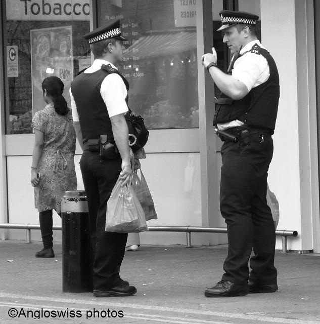 Police at East Ham Market