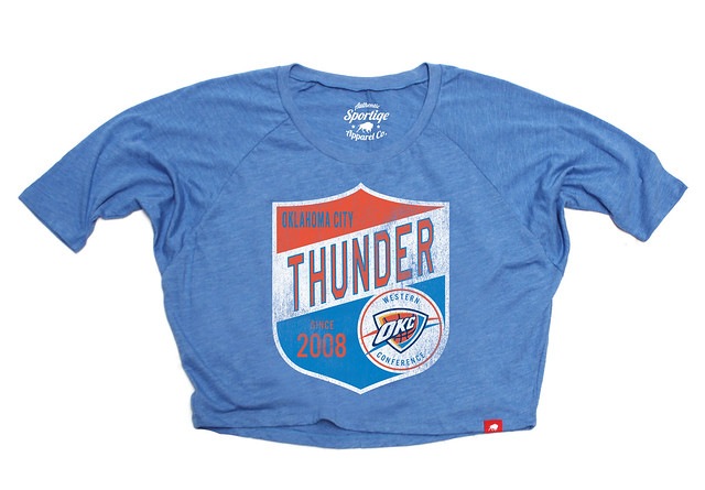 Sportiqe Oklahoma City Thunder Marshall Kingry Shirt