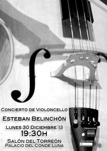 CONCIERTO DE ESTEBAN BELINCHÓN, VIOLONCELLO - LUNES 30 DICIEMBRE´13 - PALACIO DEL CONDE LUNA by juanluisgx