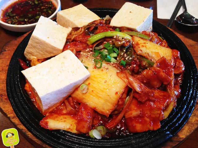 BCD tofu, pork and kimchi