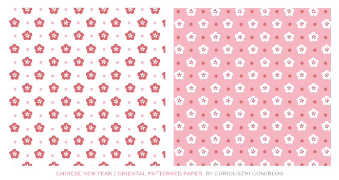 curiouszhi | Free Printable: Chinese New Year / Oriental Pattern Paper