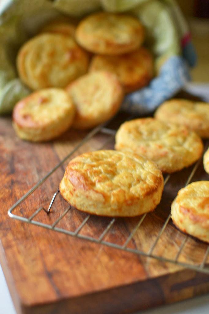 Buttermilk Cheddar Cheese Biscuits via LittleFerraroKitchen.com