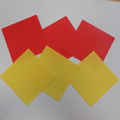 วิธีการพับกระดาษเป็นดาวหกแฉกแบบโมดูล่า 001