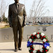 The Society, a group of Illinois expatriates in D.C. with as many as 3,000 members, holds annual birthday ceremonies for the presidents that lived in Illinois. The group celebrated Reagan's birthday for the first time this year by placing a wreath before