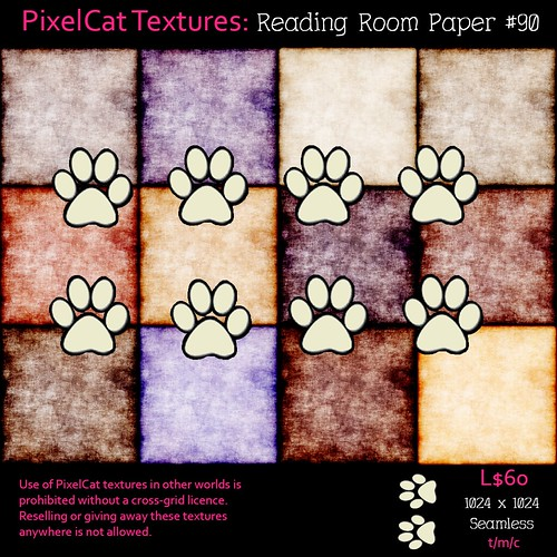 PixelCat Textures - Reading Room Paper #90