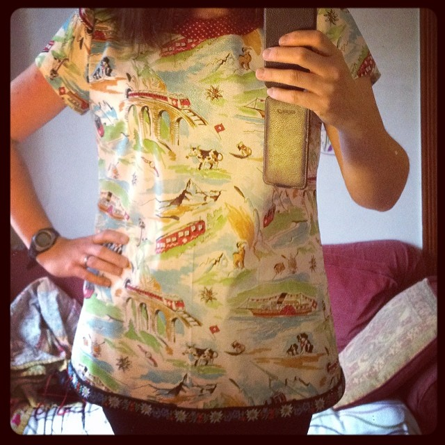 Swiss top. Crazy but fabulous. #dressmaking