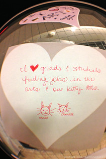 Valentine's Day at VCAD - I Love Grads and Students Finding Jobs in the Arts and Our Kitty Cats
