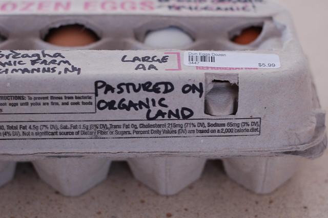 Local, pasture-raised eggs from a farm in Fleischmanns, NY by Eve Fox, the Garden of Eating blog, copyright 2014