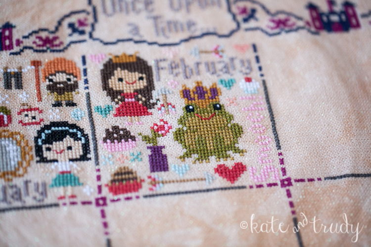 Once Upon a Time Sampler - February | www.kateandtrudy.com