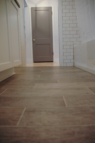 tile bathroom floor and wall