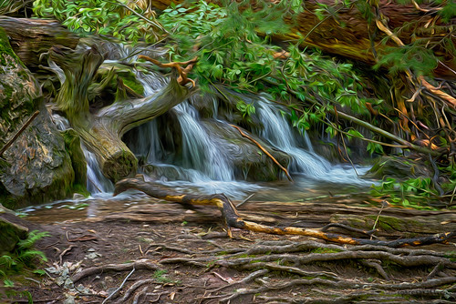 longexposure usa green nature water photoshop waterfall colorado unitedstates oil glenwoodsprings hanginglake 2013