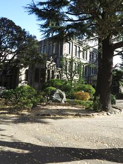青山學院大學是所百年老校,不過校園看起來摩登新穎。攝影:范欽慧。