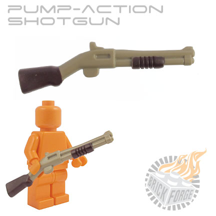 Pump-Action Shotgun - Dark Tan (dark brown pump & stock print)