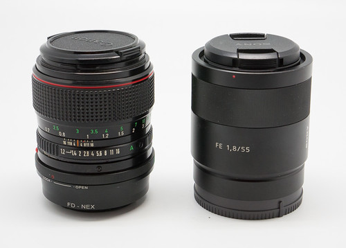 Sony FE 55mm f/1 8 Z vs Canon FD 50mm f/1 2 L | Verybiglobo photo
