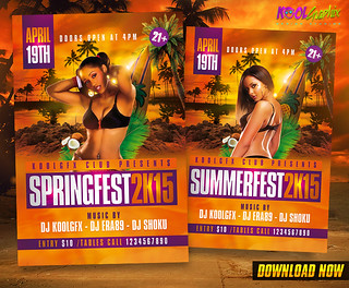Spring / Summer Fest Party Flyer Template