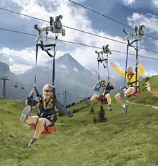 Výlet lanovkou nad Grindelwaldem