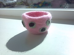 Needle felted bowl