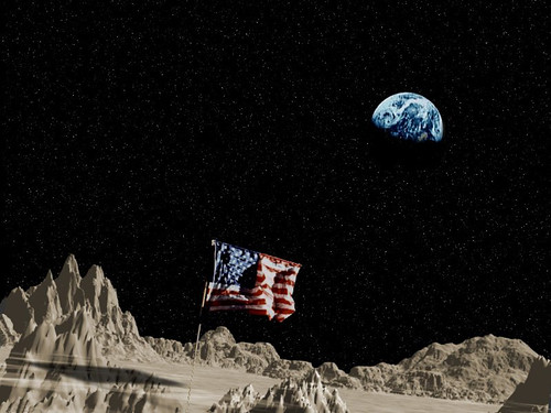 Apollo Moon Landings: The American Flag