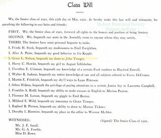 5-23-2014 Grace Nelson Class Will 1921