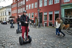 vehicle, segway, road, street, bicycle, pedestrian, infrastructure,