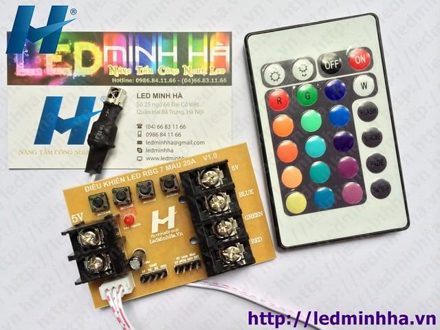 Mạch Điều Khiển LED RGB 7 Mầu 20A MH V1.0
