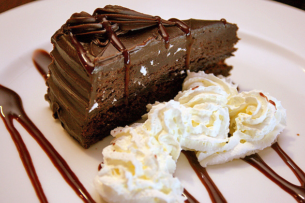 Dessert - a sinful chocolate cake