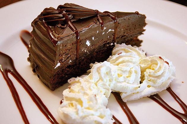 Dessert - a sinful chocolate cake
