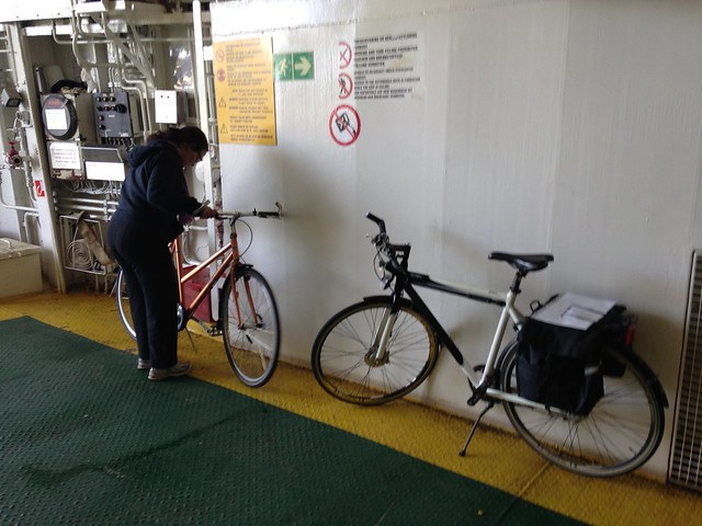 There is always room for bikes on the ferry to Ærø