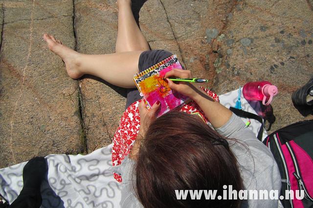 Best art journaling spot by iHanna of www.ihanna.nu